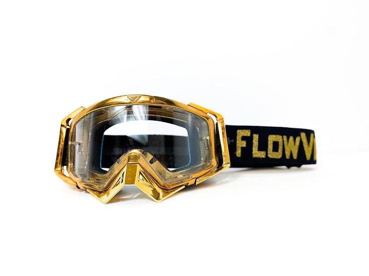 "Flow Vision ""Rythem"" gold/black goggles"