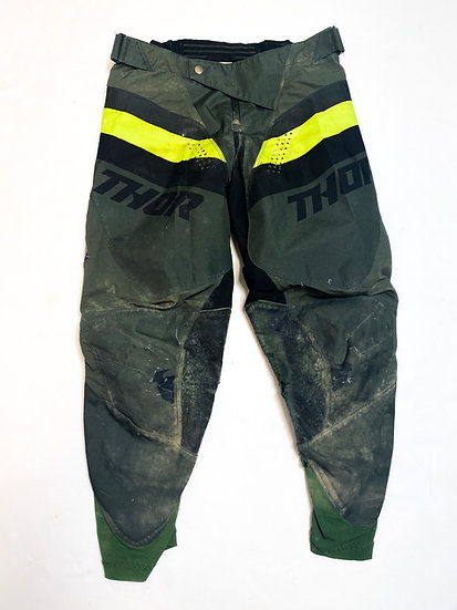Thor pants army green/volt Size 32