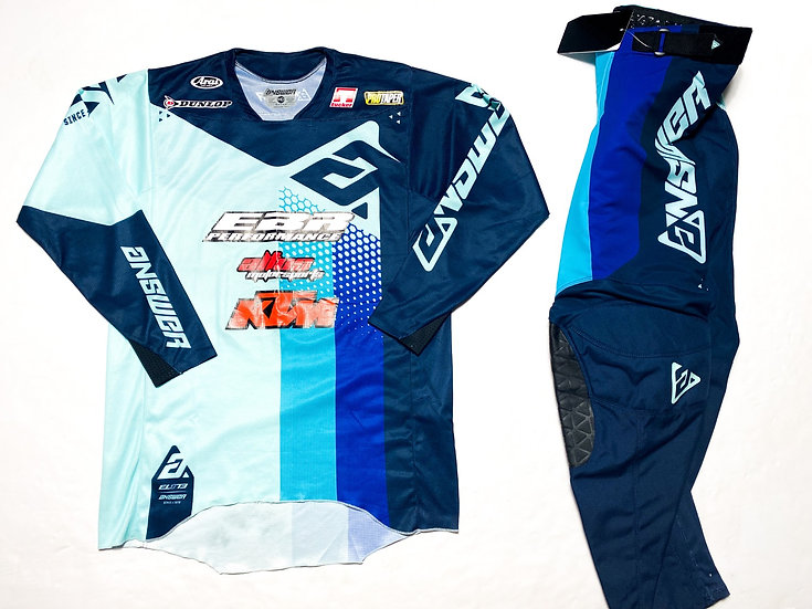 """Answer Racing Elite """"Pace"""" seafoam/teal gear combo BRAND NEW  (32/M)"""