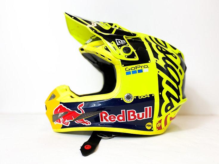 Troy Lee Designs SE4 Redbull Athlete Only Custom Painted helmet yellow Size M