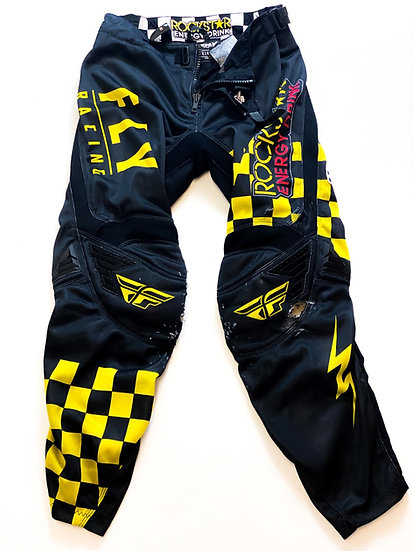 Fly Kinetic Rockstar Energy yellow/black pants Size 30