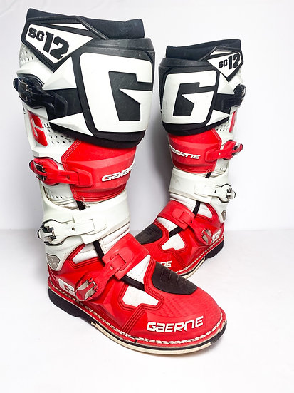 Gaerne SG12 red/white/black Boots Size 8
