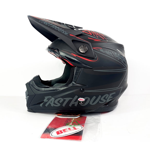 """Bell Moto 9 Flex FastHouse """"DITD 21"""" matte/grey/red Helmet Size Small BRAND NEW"""
