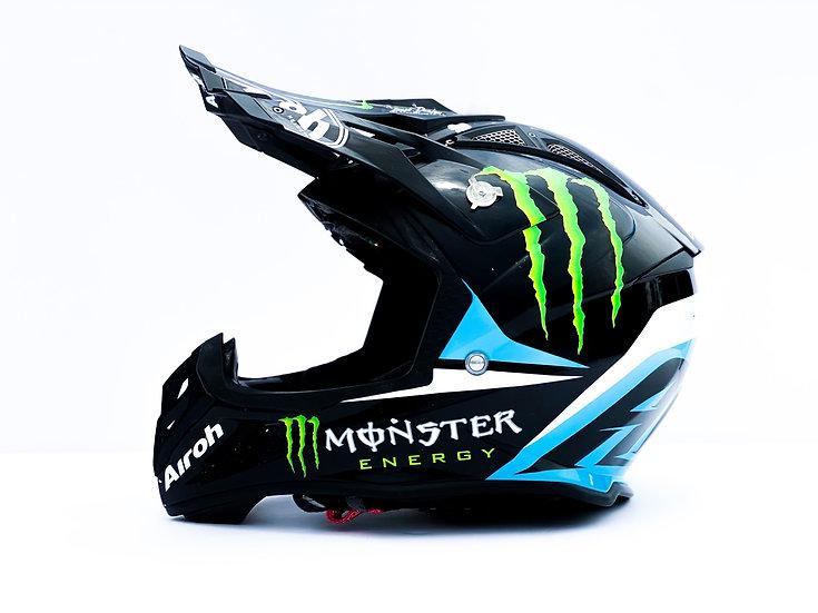 Airoh Aviator 2.3 Monster Energy custom painted athlete only helmet Size Medium