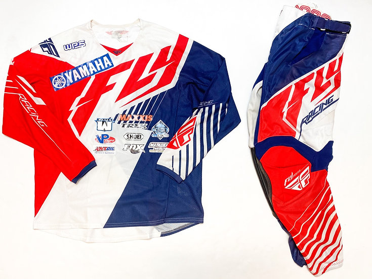 Fly Kinetic Mesh Tech red/navy gear combo (32/L)