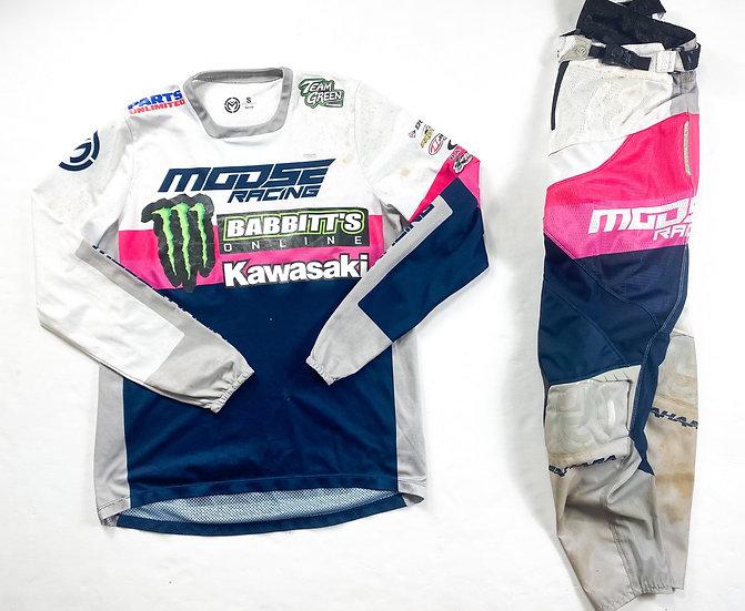 Moose Racing pink/navy gear combo (28/S)