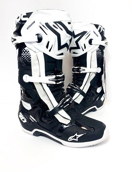 2021 Alpinestars Tech 10 boots black/white BRAND NEW Size 10