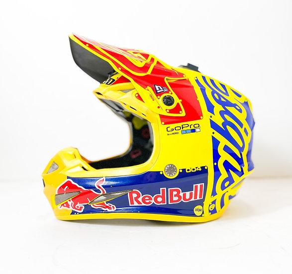 "Troy Lee Designs SE4 ""Redbull Athlete Only"" Custom Painted helmet Size Large"