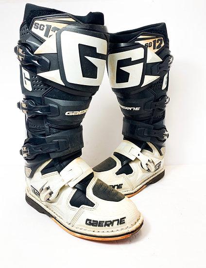 Gaerne SG-12 black/white boots Size 7