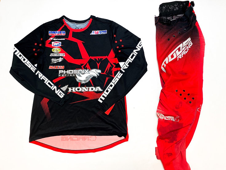 Moose Agroid red/black gear combo (32/M)