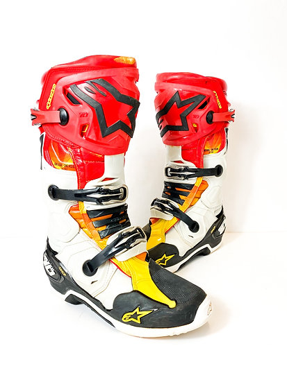 Alpinestars Tech 10 Racer red/yellow boots Size 9