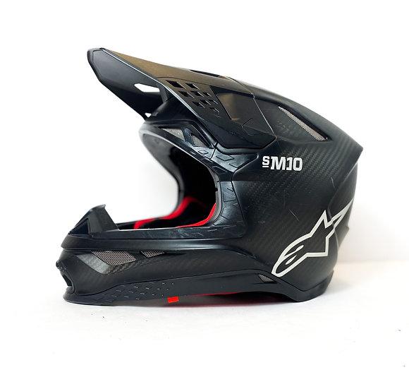Alpinestars Supertech M10 black matte carbon helmet Size Medium