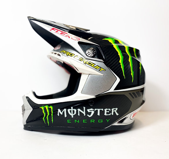 Bell Moto 9 Flex Monster APDesigns Painted Athlete Helmet Size Large