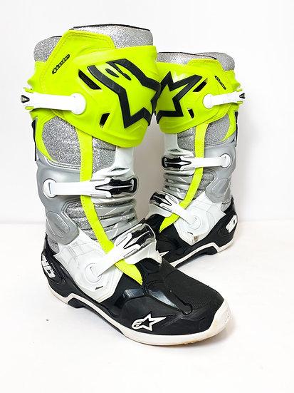 Alpinestars Tech 10 Unreleased Athlete Only Vegas volt/glitter Boots Size 10