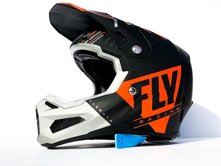 "2020 Fly Racing Formula Carbon ""Vector"" orange/grey helmet Size Medium (NEW)"