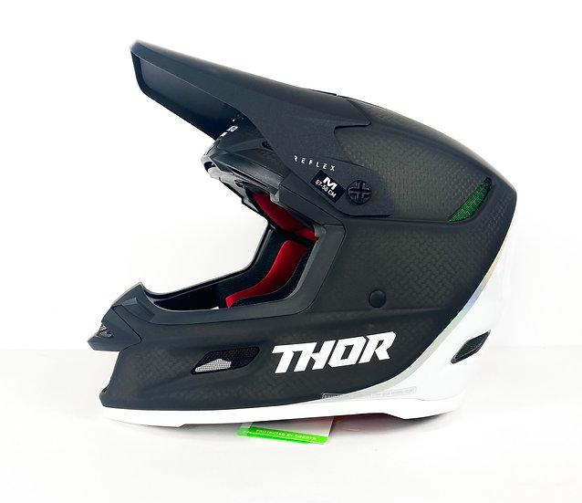 "2022 Thor Reflex ""Polar"" carbob fiber Helmet Size Medium BRAND NEW"