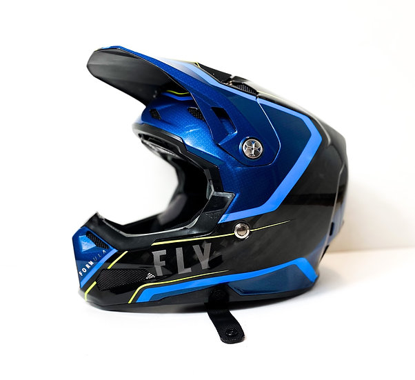Fly Formula Carbon yellow/blue Helmet Size Small