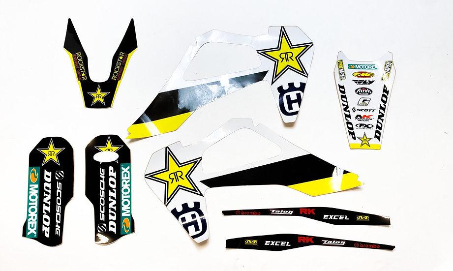 Rockstar Husqvarna Factory Graphic Kit (Fits FC250/450 2019-2020)