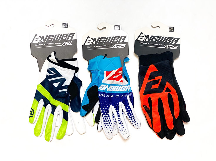 Lot of 3 Answer Racing MX Gloves BRAND NEW Size Medium