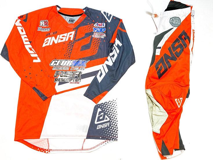 Answer Elite orange/white gear combo (28/M)