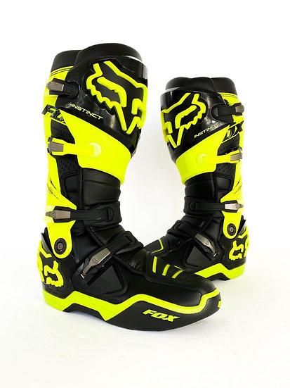 Fox Instinct volt green/black boots Size 10