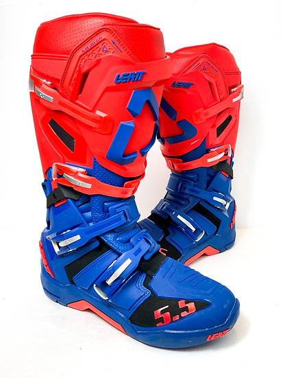 Leatt GPX 5.5 red/blue boots BRAND NEW Size 12