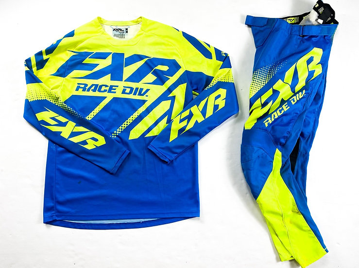 """FXR """"Clutch"""" volt/blue gear combo (28/M)"""