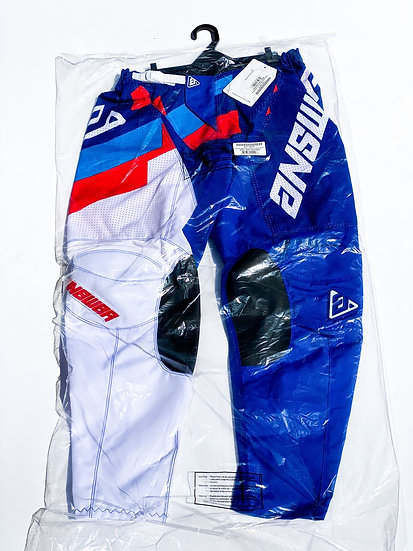 Answer Akron Korza Daytona 2020 blue/red pants BRAND NEW Size 34