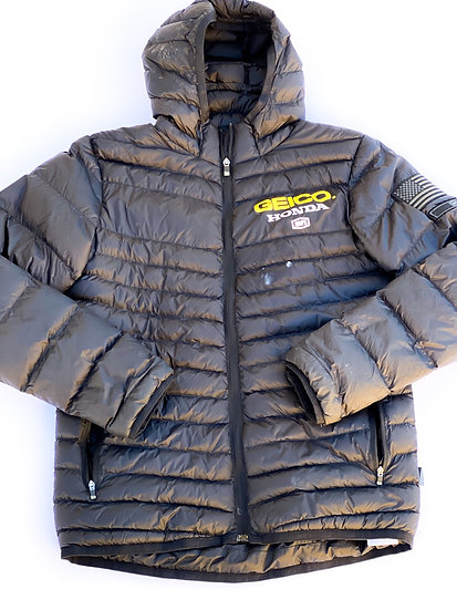 Geico Honda team athlete only puffer jacket Size Small