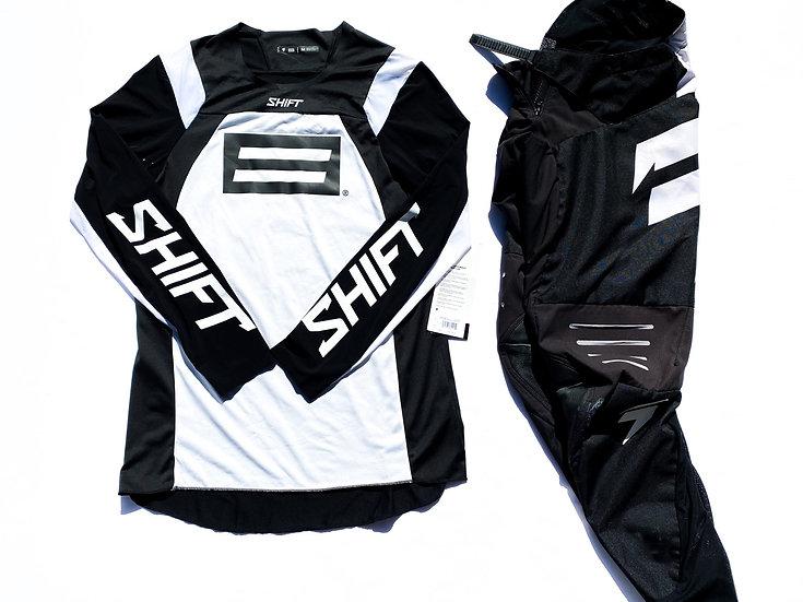 Shift Blue/Black Label white/black gear combo (30/M)