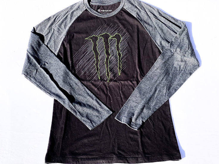 "Monster Energy ""athlete only"" long sleeve shirt size Medium"