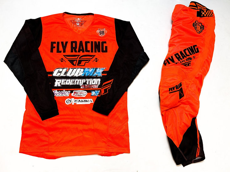 Fly Kinetic mesh orange/black gear combo (30/M)