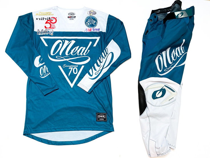 O'Neal Mayhem Lite teal/white gear combo BRAND NEW (28/M)