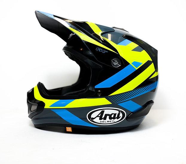"Arai VX Pro 4 ""Machine"" blue/yellow/black Helmet Size Small"