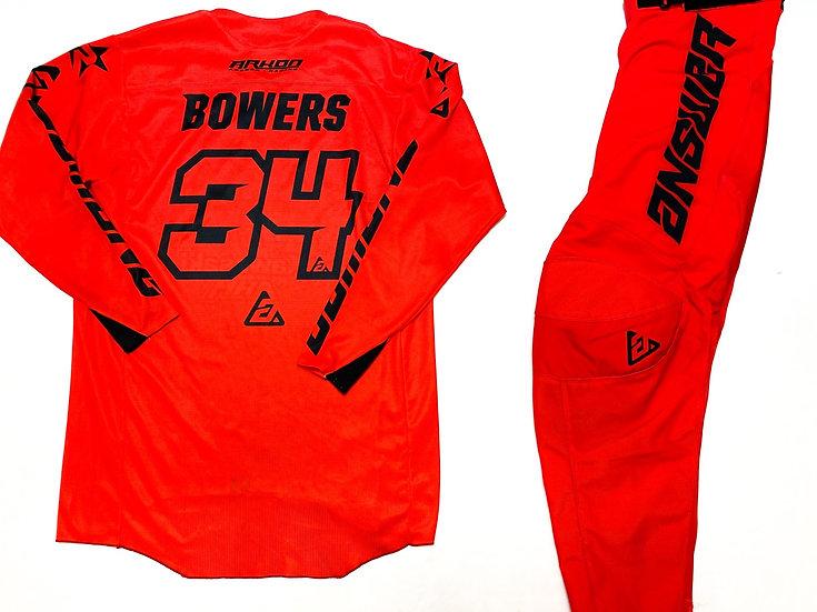 Tyler Bowers Race Worn Answer MX gear combo red/black
