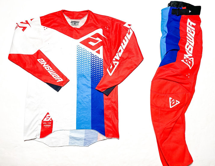 """Answer Racing Elite """"Pace"""" red/blue gear combo (32/M)"""