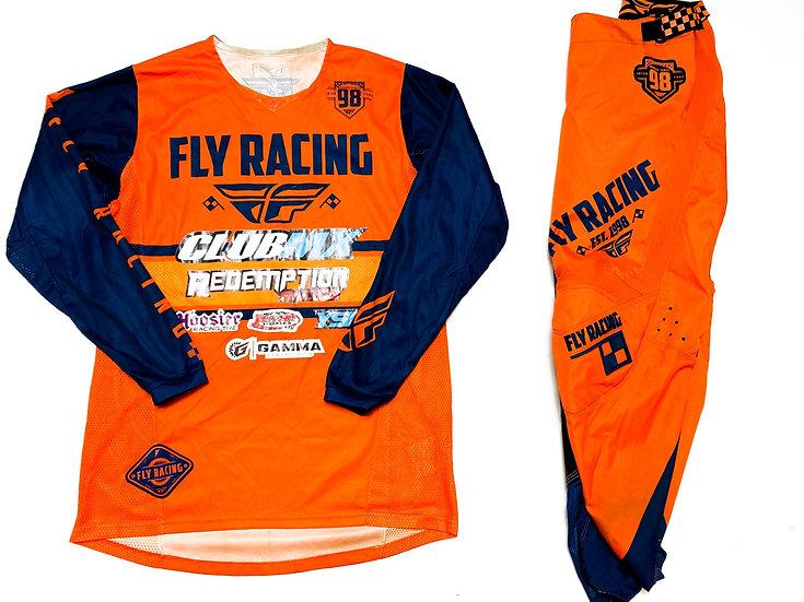 Fly Kinetic Era orange/navy gear combo (30/M)