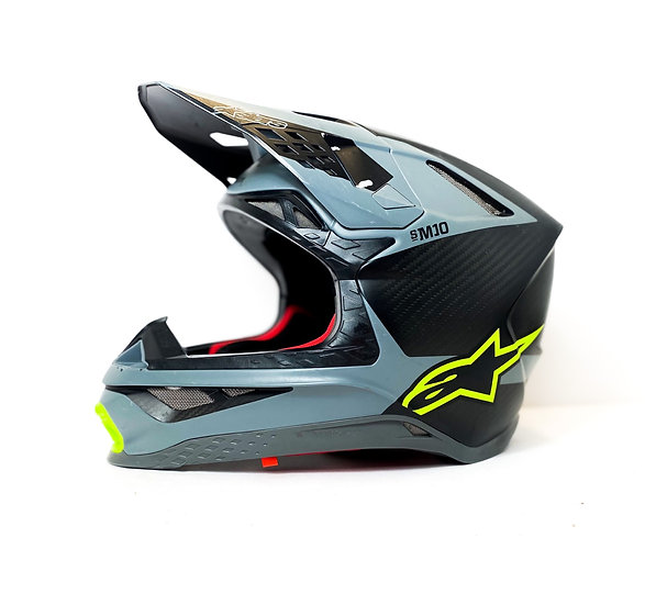 Alpinestars Supertech M10 grey/volt carbon helmet Size Medium