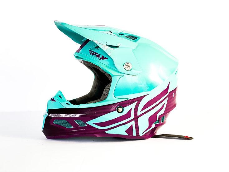 Fly F2 Carbon MIPS teal/purple helmet Size Medium