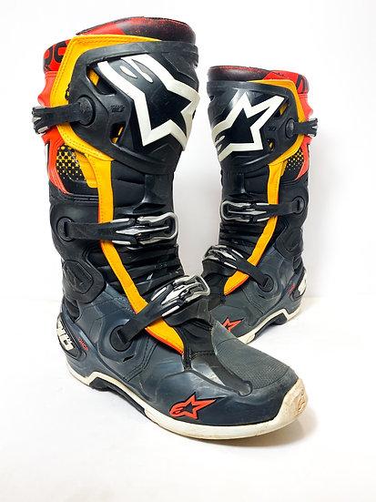 Alpinestars Tech 10 orange/black/red boots Size 10