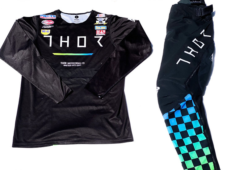 """2020 Thor Prime Pro """"Trend"""" green/blue gear combo (32/L)"""