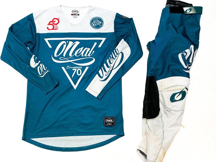 O'Neal Mayhem teal/whit gear combo (34/L)
