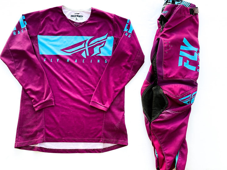Fly Kinetic purple/teal gear combo (32/L)