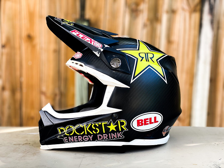 "Bell Moto 9 Flex Rockstar Energy ""athlete only"" helmet Size Small"