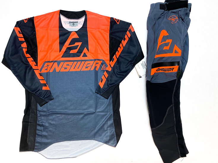 Answer Trinity orange/grey gear combo BRAND NEW (30/S)