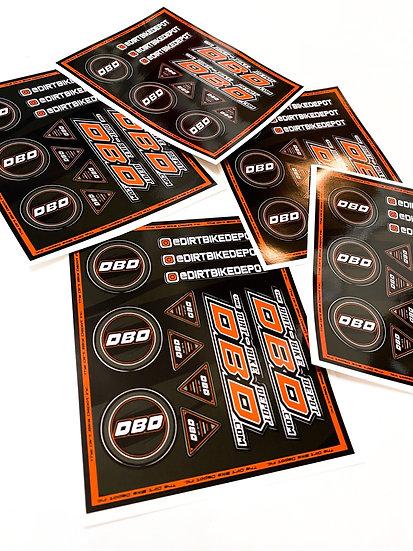 The Dirt Bike Depot LE Team Sticker Sheet (Pack of 3)