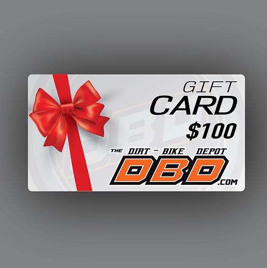 The Dirt Bike Depot Official Gift Card ($100)
