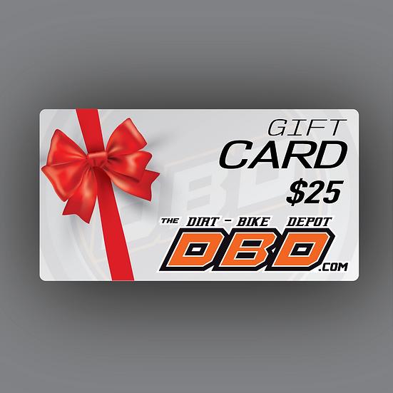 The Dirt Bike Depot Official Gift Card ($25)