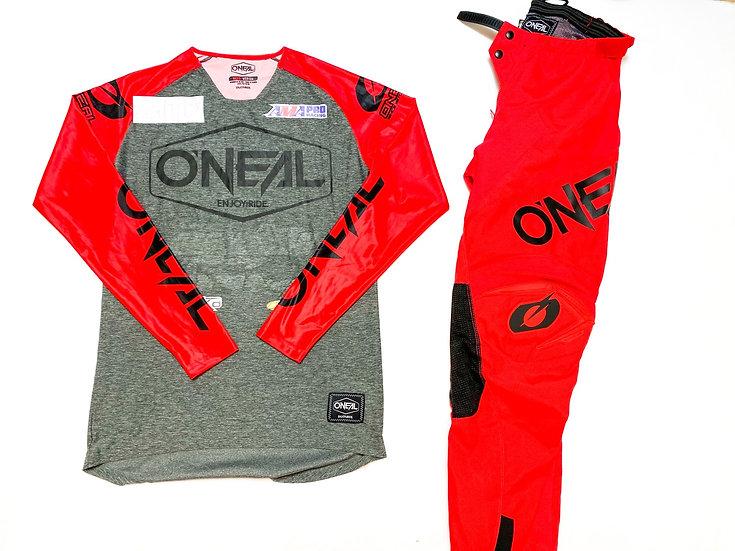 O'Neal Mayhem Lite red/grey gear combo (28/M)