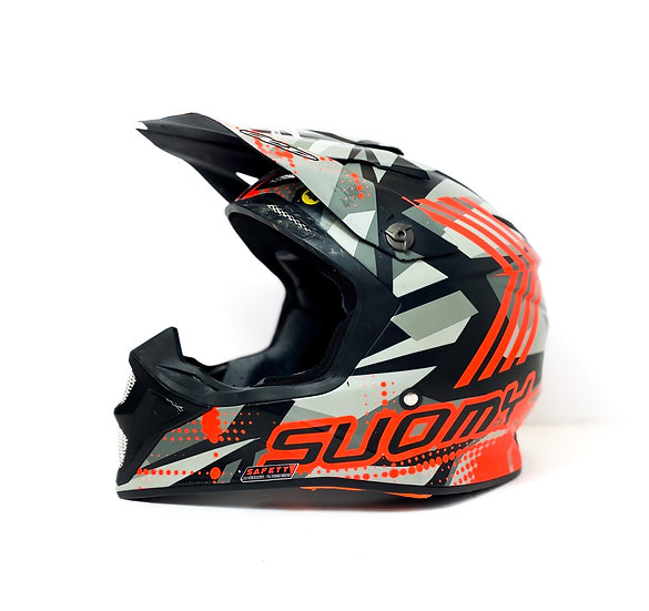 "Suomy Speed ""Sargeant"" red/grey MIPS helmet Size Large"